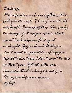 Robert's love letter